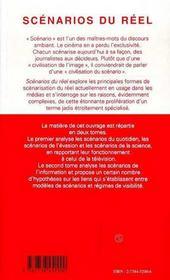 Scenarios Du Reel T.2 - 4ème de couverture - Format classique
