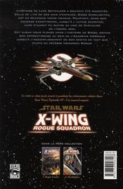 Star Wars - X-wing rogue squadron t.2 ; darklighter - 4ème de couverture - Format classique