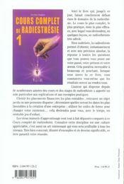 Cours complet de radiesthésie t.1 - 4ème de couverture - Format classique