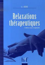 Relaxations thérapeutiques (2e édition) - Intérieur - Format classique