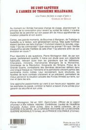 Histoire de l'armee francaise - 4ème de couverture - Format classique