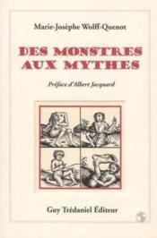 Des Monstres Aux Mythes - Couverture - Format classique