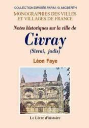 Civray (Histoire De) - Couverture - Format classique
