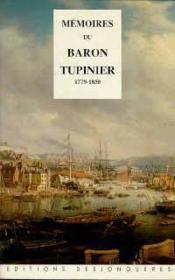Mémoires Du Baron Tupinier - Couverture - Format classique