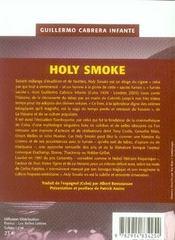 Holy smoke - 4ème de couverture - Format classique