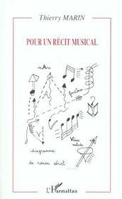 Pour Un Recit Musical - Intérieur - Format classique