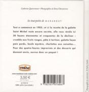 Galettes Saint-Michel ; les 30 recettes culte - 4ème de couverture - Format classique