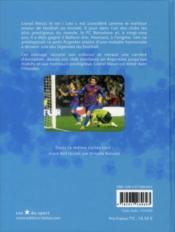 Lionel Messi, les pieds en or - 4ème de couverture - Format classique
