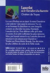 Lancelot ou le chevalier de la charrette - 4ème de couverture - Format classique