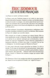 Le suicide français - 4ème de couverture - Format classique