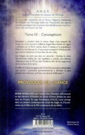 A.n.g.e t.9 ; cenotaphium - 4ème de couverture - Format classique