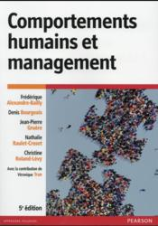 Vente  Comportements humains et management 5e edition  - Bailly Frederique Al - Bailly F A. - Bailly F A.