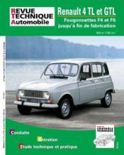 Rta 388.7 Renault 4 Gtl Et Fourgonnette 4f4 - 4f6 - Couverture - Format classique