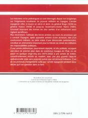 L'Armee Espagnole (Xixe Et Xxe Siecles) - 4ème de couverture - Format classique