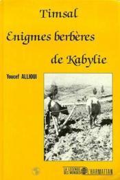 Timsal ; énigmes berbères de Kabylie - Couverture - Format classique
