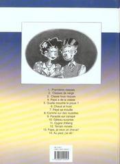 Cédric t.14 ; au pied j'ai dit - 4ème de couverture - Format classique