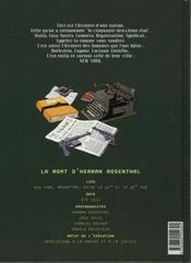 La Mort D'Herman Rosenthal - 4ème de couverture - Format classique
