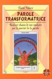 Paroles Transformatrices - Couverture - Format classique