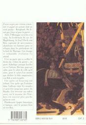 Von Bek 1 Le Chien De Guerre Et La Douleur Dumonde - 4ème de couverture - Format classique