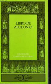 Libro de apolonio - Couverture - Format classique