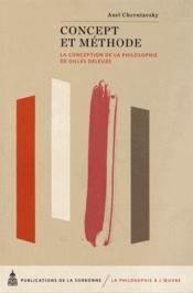 Concept Et Methode - Couverture - Format classique