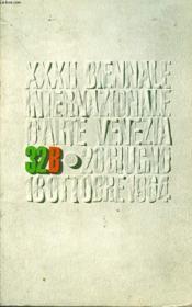 Biennale Venezia 1964 - Couverture - Format classique