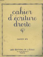 Cahiers D'Ecriture Droite - Cahier N°3 - Couverture - Format classique