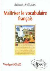 Maitriser Le Vocabulaire Francais - Intérieur - Format classique
