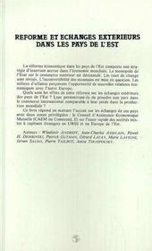 Reforme Et Echanges Exterieures Dans Les Pays.. - 4ème de couverture - Format classique