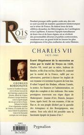 Charles VII, 1422-1461 ; père de Louis XI - 4ème de couverture - Format classique