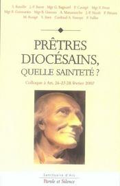 Prêtres diocésains, quelle sainteté ? colloque à ars, 26-28 février 2007 - Intérieur - Format classique