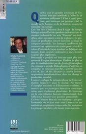 L'industrie bancaire ; mondialisation des acteurs et des marchés - 4ème de couverture - Format classique