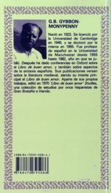 Libro del buen amor - 4ème de couverture - Format classique