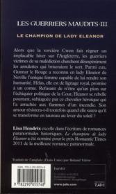 Les guerriers maudits t.3 ; le champion de lady Eleanor - 4ème de couverture - Format classique
