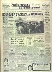 Paris Presse L'Intransigeant N°5177 du 02/08/1961 - Couverture - Format classique