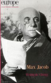 Revue Europe N.1019 ; Max Jacob ; Francois Cheng - Couverture - Format classique