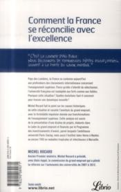 Comment la France s'est reconciliée avec le savoir - 4ème de couverture - Format classique