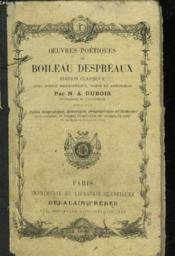 Oeuvres Poetiques De Boileau Despreaux - Suivi D'Un - Index Biographique, Historique, Geographique Et Litteraire - Couverture - Format classique