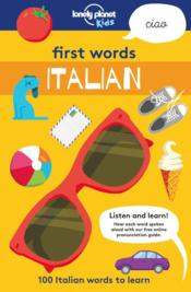 Vente livre :  First words ; italian (édition 2018)  - Collectif Lonely Planet