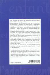 Psychiatrie Clinique De L'Enfant Et De L'Adolescent - 4ème de couverture - Format classique