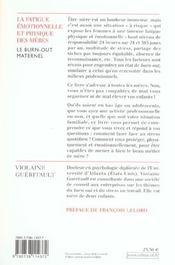 La Fatigue Emotionnelle Et Physique Des Meres - 4ème de couverture - Format classique