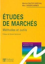 Etudes De Marches Methodes Et Outils - Intérieur - Format classique