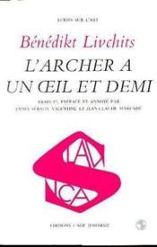 Archer A Un Oeil Et Demi (L') - Couverture - Format classique