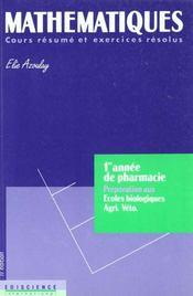 Mathematiques - Intérieur - Format classique