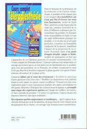 Cours Complet De Teleradiesthesie - 4ème de couverture - Format classique