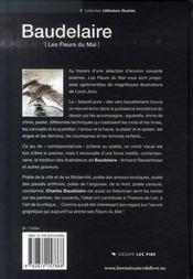 Baudelaire ; les fleurs du mal - 4ème de couverture - Format classique