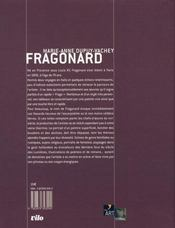 Fragonard - 4ème de couverture - Format classique