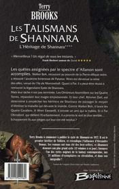 L'héritage de shannara t.4 ; les talismans de shannara - 4ème de couverture - Format classique