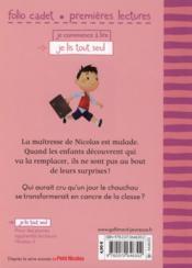 Le petit Nicolas t.9 ; le chouchou a la poisse - 4ème de couverture - Format classique