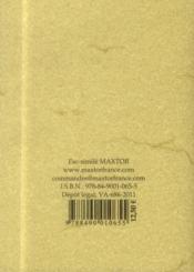La franc-maçonnerie dévoilée et expliquée - 4ème de couverture - Format classique